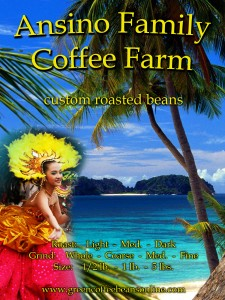 Ansino Family Coffee Farm Label